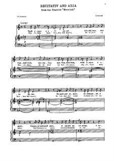 Nr.29 Die Schmach bricht ihm sein Herz: Für Stimme und Klavier by Georg Friedrich Händel