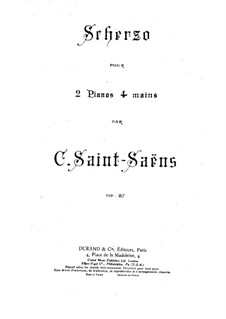 Scherzo, Op.87: Für zwei Klaviere, vierhändig by Camille Saint-Saëns