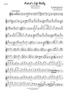 Künstlerleben, Op.316: Für Streichquartett by Johann Strauss (Sohn)