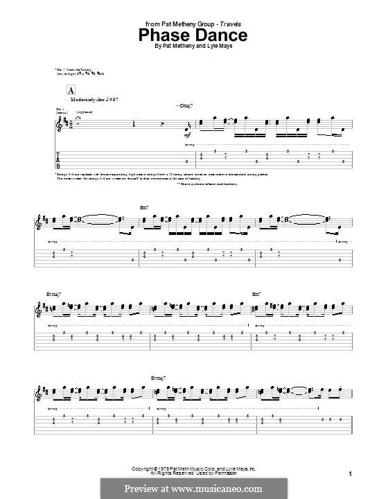 Phase Dance: Für Gitarre mit Tab by Pat Metheny