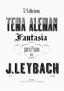 Fantasia on Allemande, Op.5: Für einen Interpreten by Joseph Leybach