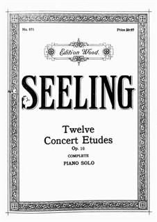 Zwölf Konzertetüden, Op.10: Für Klavier by Hans Seeling