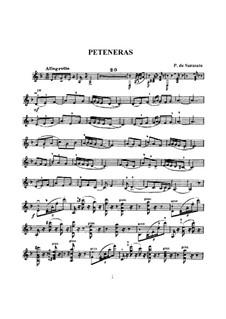 Peteneras, Op.35: Solostimme by Pablo de Sarasate