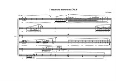 1 measure 'Etudes to the nocturnes' for piano: Movement No.6, MVWV 588 by Maurice Verheul