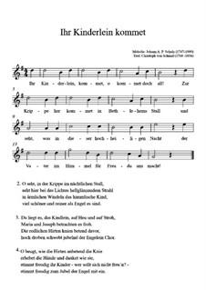 Die Kinder bei der Krippe: Für Gitarre by Johann Abraham Schulz