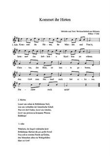 Kommet ihr Hirten: Für Gitarre by folklore