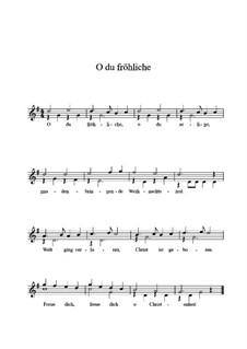 O du fröhliche: Für Gitarre by folklore