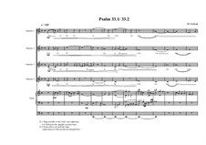 Psalm 33.1 and 33.2 for 4 soprano's and organ, MVWV 395: Psalm 33.1 and 33.2 for 4 soprano's and organ by Maurice Verheul