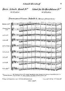 Horn-Schule: Band IVb by Josef Schantl