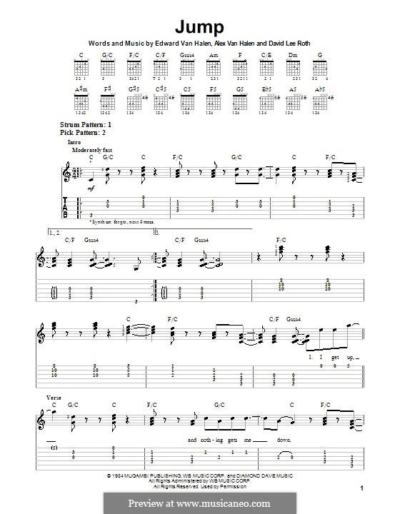 Jump (Van Halen): Für Gitarre mit Tab by Alex Van Halen, David Lee Roth, Edward Van Halen, Michael Anthony