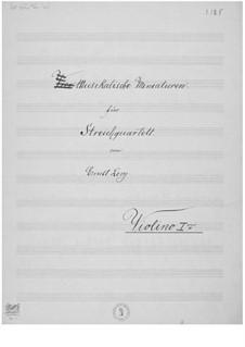 Musikalische Miniaturen für Streichquartett: Stimmen by Ernst Levy