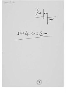 Streichquartett Nr.5: Vollpartitur by Ernst Levy