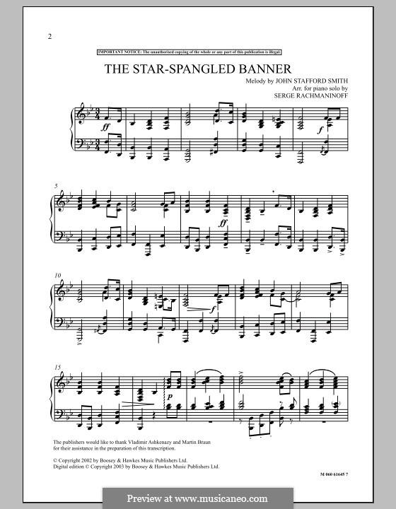 The Star Spangled Banner: The Star Spangled Banner by Sergei Rachmaninoff