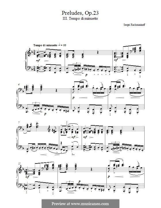 Zehn Präludien, Op.23: Präludium Nr.3 in d-Moll by Sergei Rachmaninoff