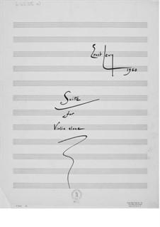 Suite für Violine allein: Für einen Interpreten by Ernst Levy