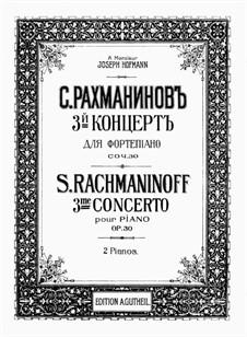 Klavierkonzert Nr.3 in d-Moll, Op.30: Version für zwei Klaviere, vierhändig by Sergei Rachmaninoff