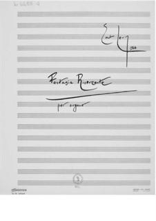 Fantasia ricercante für Orgel: Für einen Interpreten by Ernst Levy
