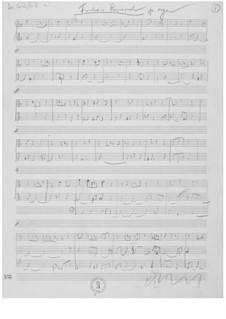 Fantasia ricercante für Orgel: Skizzen by Ernst Levy