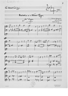 Meditation über eine hebräische Raga für Orgel: Meditation über eine hebräische Raga für Orgel by Ernst Levy