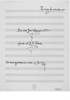 Das alte Jahr vergangen ist. Choral von J. S. Bach (mit drei Annäherungen und einer Coda): Das alte Jahr vergangen ist. Choral von J. S. Bach (mit drei Annäherungen und einer Coda) by Ernst Levy