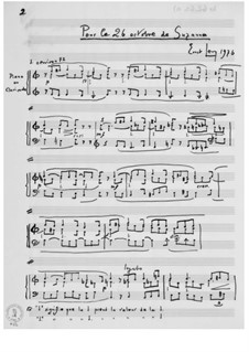 Pour le 26 octobre de Suzanne für Klavier oder Clavichord: Pour le 26 octobre de Suzanne für Klavier oder Clavichord by Ernst Levy