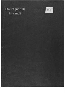 Streichquartett Nr.1: Vollpartitur by Ernst Levy