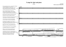 5 songs for mixed choir and piano: Nr.3, MVWV 342 by Maurice Verheul