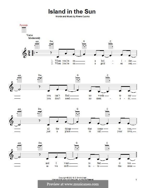 Island in the Sun (Weezer): Für Ukulele by Rivers Cuomo