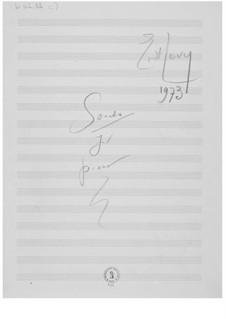 Klaviersonate Nr.1: Skizzen by Ernst Levy