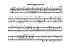 5 small pieces for piano: Stück Nr.4, MVWV 393 by Maurice Verheul