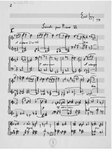 Klaviersonate Nr.6: Klaviersonate Nr.6 by Ernst Levy