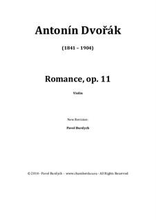Romanze in f-Moll, B.39 Op.11: Für Violine by Antonín Dvořák