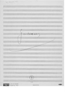 Kantate Nr.4 'Gaudeamus': Skizzen by Ernst Levy