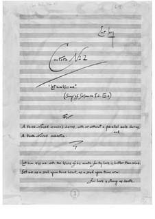 Kantate Nr.2 'Er küsse mich' (Hohelied I:2, VIII:6): Kantate Nr.2 'Er küsse mich' (Hohelied I:2, VIII:6) by Ernst Levy