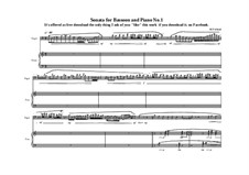2 Sonatas for Bassoon and Piano: Sonate Nr.1, MVWV 497 by Maurice Verheul