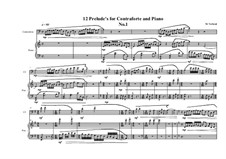 12 Prelude's for Contraforte and Piano: Präludium Nr.1, MVWV 742 by Maurice Verheul