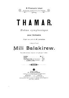 Tamara: Für zwei Klaviere, achthändig – Klavierstimme I by Mily Balakirev