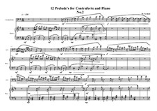 12 Prelude's for Contraforte and Piano: Präludium Nr.2, MVWV 743 by Maurice Verheul