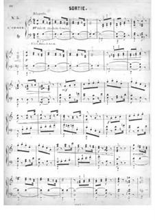 Fünfzig Stücke für Orgel, Op.24: No.5 Sortie in C Major by Edouard Batiste