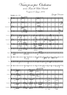 Variation on a Theme of Béla Bartók: Variation on a Theme of Béla Bartók by Giuseppe Devastato