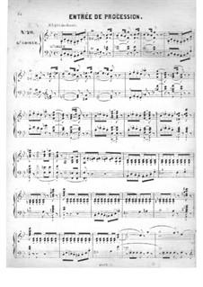 Fünfzig Stücke für Orgel, Op.24: No.20 Éntrée de procession in B Flat Major by Edouard Batiste