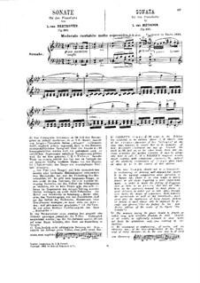 Sonate für Klavier Nr.31, Op.110: Für einen Interpreten (Herausgegeben von H. Bülow) by Ludwig van Beethoven
