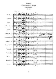 An Minna, WoO 115: Partitur by Ludwig van Beethoven