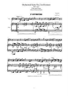 Orchestersuite Nr.2 in h-Moll, BWV 1067: Für Flöte und Piano by Johann Sebastian Bach
