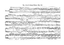 Streichquartett Nr.14 in cis-Moll, Op.131: Version für Klavier, vierhädnig by Ludwig van Beethoven