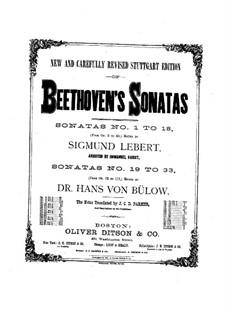Sonate für Klavier Nr.10, Op.14 No.2: Für einen Interpreten (Herausgegeben von S. Lebert) by Ludwig van Beethoven