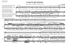 6 Songs for Alto and piano, based on the lyrics of Rilke: Souvenirs de Muzot: No.9, MVWV 383 by Maurice Verheul