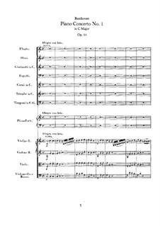 Konzert for Klavier und Orchester Nr.1, Op.15: Teil I by Ludwig van Beethoven