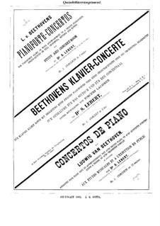 Konzert for Klavier und Orchester Nr.1, Op.15: Version für Klavier und Streichquintett – Violinestimme I by Ludwig van Beethoven