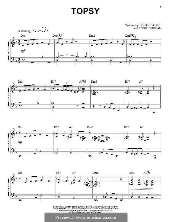 Topsy: Für Klavier by Eddie Durham, Edgar Battle